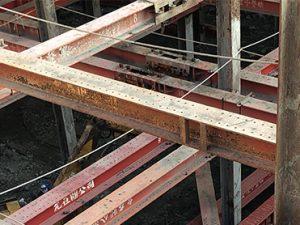 五期新建案,連續壁地下三H型鋼支撐