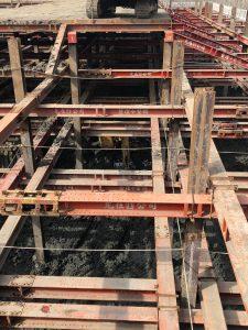 地下工程第二層三層水平支撐