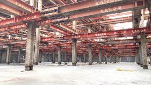 台南新建案-景泰然,開挖完成,PC澆置放樣